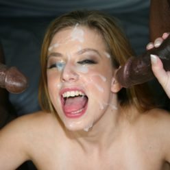 Pussy Full of Black Cum - image all-over-her-face-248x248 on https://blackcockcult.com