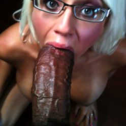 White Slaves And Their Black Mistresses - image platinum-blonde-with-glasses-sucking-a-fat-dick-248x248 on https://blackcockcult.com