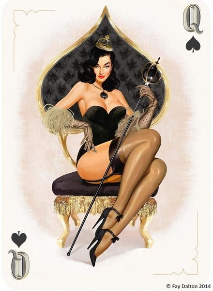 Queen of Spades Artwork - image the-queen-of-spades-i-43 on https://blackcockcult.com