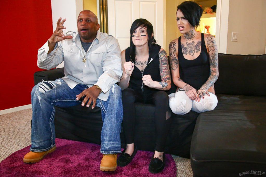 Black Man Enjoying The Game With His Lesbian Slut Slaves - image black-man-enjoying-the-game-with-his-lesbian-slut-slaves-14-1024x683 on https://blackcockcult.com