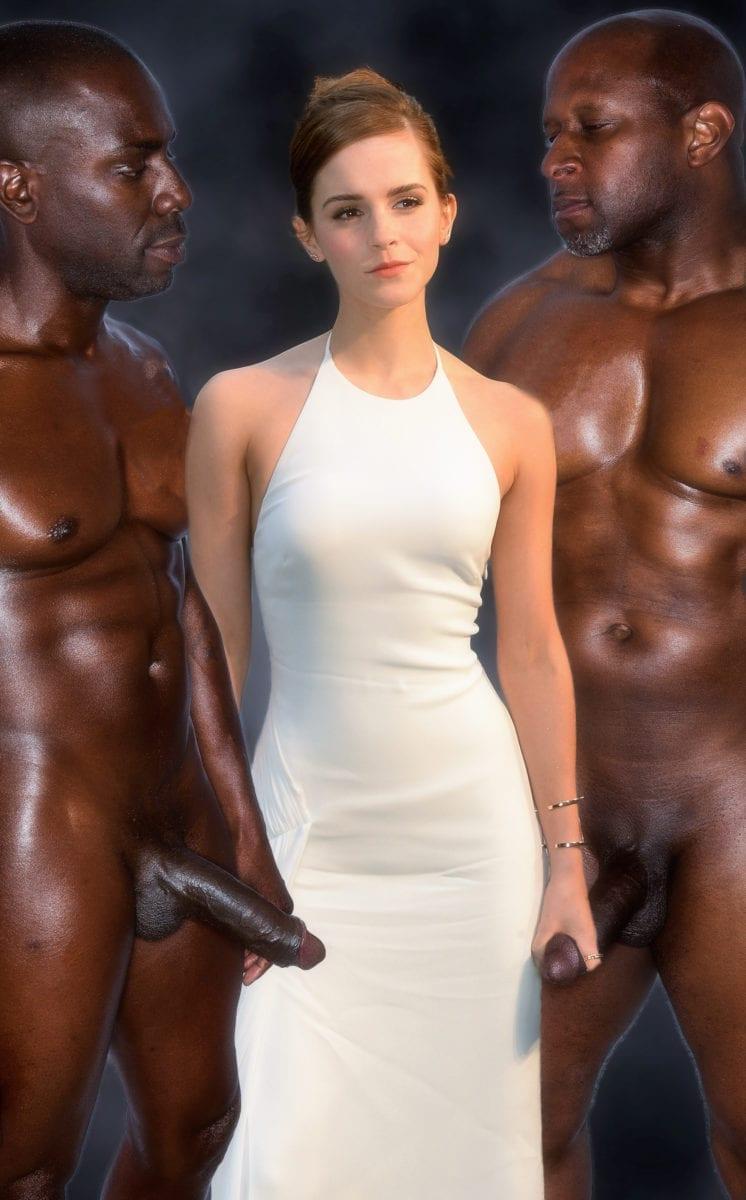 Emma Watson's Black Cock Addiction - image emmablack2-746x1200 on http://blackcockcult.com