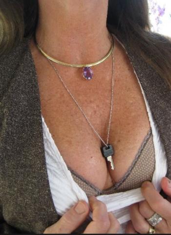 Chastity Keys Make Great Jewelry - II - image chastity-keys-make-great-jewelry-ii-8 on https://blackcockcult.com
