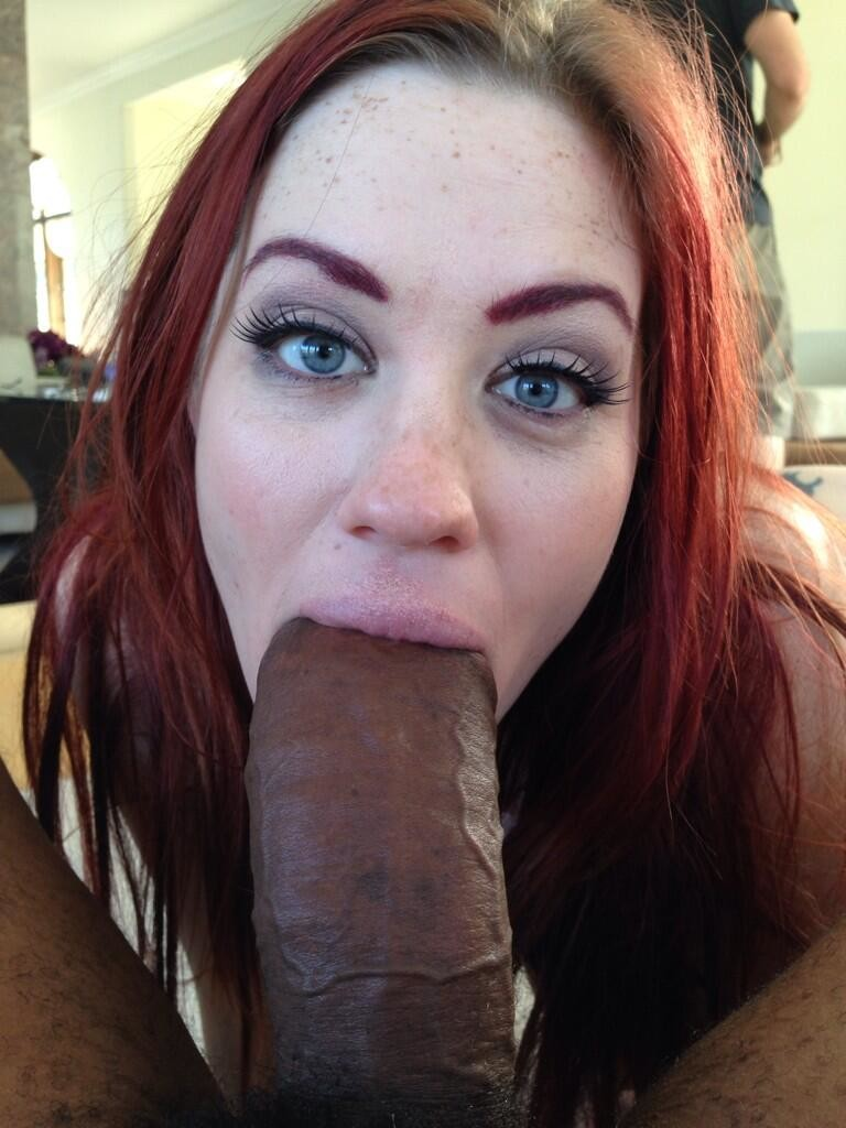 He Images His Redheaded Wife Taking Big Black Cock