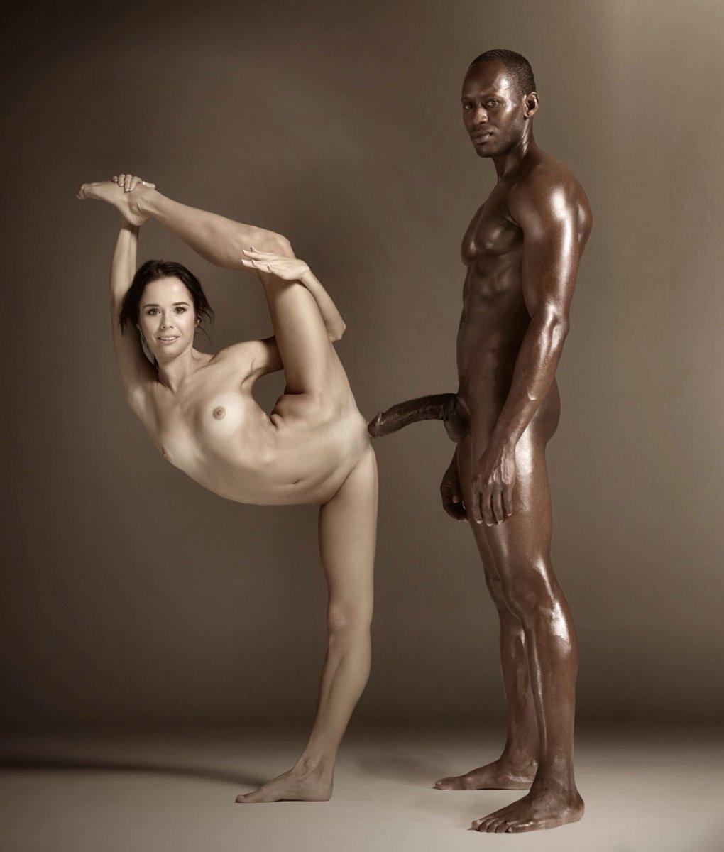 Beautiful women nude with black men