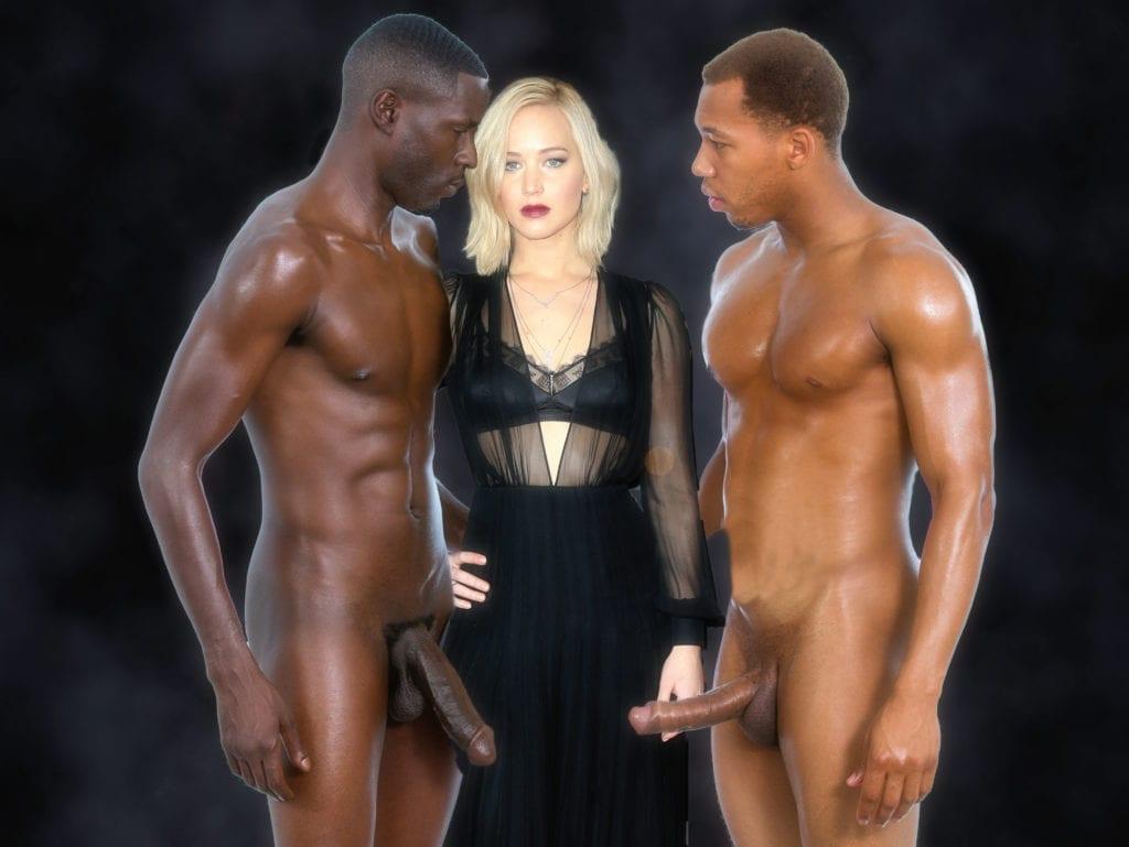 Jennifer Lawrence Goes Black Only - image jblack-1-1024x769 on http://blackcockcult.com