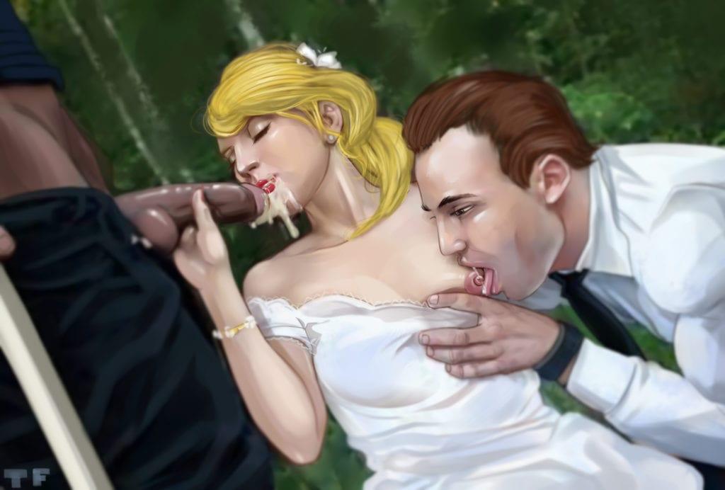 Cuckolding Artwork By TitFlaviy - image TitFlaviy-567907-Bride...Blowjob-1024x692 on https://blackcockcult.com